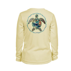 Turtle Planet B Long Sleeve Youth Performance Tee