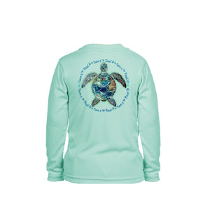Turtle Planet B Long Sleeve Toddler Performance Tee