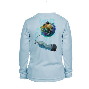 Pufferfish Long Sleeve Youth Performance Tee
