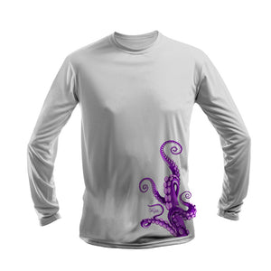 Octo Legs Purple Long Sleeve Performance Tee