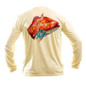 Red Snapper Long Sleeve Performance Tee
