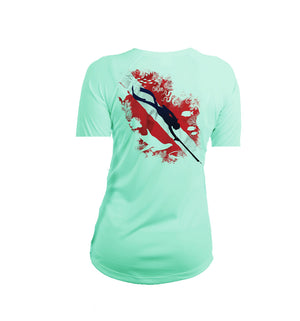 Reef Diver Short Sleeve V-Neck Performance Tee