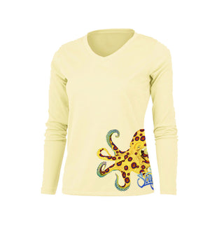 Ring Octo (Side Wrap) Long Sleeve V-Neck Performance Tee
