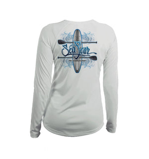 Paddleboard SUP Long Sleeve V-Neck Performance Tee