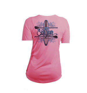 Paddleboard SUP Short Sleeve V-Neck Performance Tee