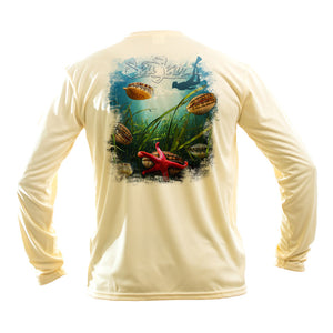 Scallop Long Sleeve Performance Tee