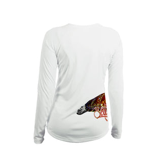 Sea Turtle (Side Wrap) Long Sleeve V-Neck Performance Tee