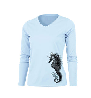 Seahorse Long Sleeve V-Neck Performance Tee