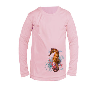 Seahorse Reef Long Sleeve Youth Performance Tee
