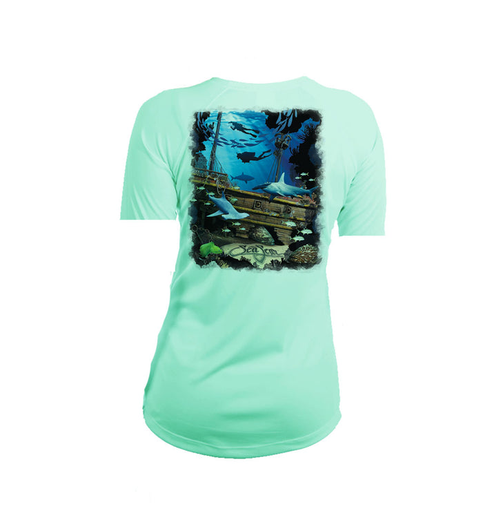 Shipwreck Short Sleeve V-Neck Performance Tee
