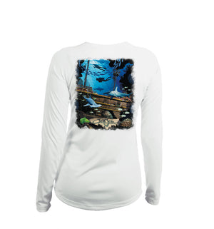 Shipwreck Long Sleeve V-Neck Performance Tee