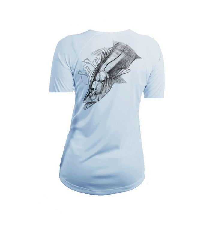 Snook Large Short Sleeve V-Neck Performance Tee