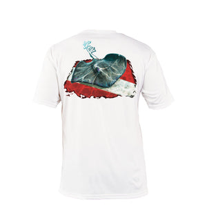 Stingray Dive Flag Short Sleeve Performance Tee