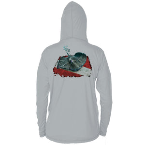 Stingray Dive Flag Long Sleeve Performance Hoody