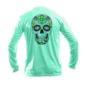 Sugar Skull Long Sleeve Performance Tee
