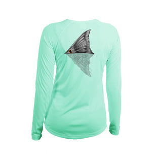 Tailing Redfish Long Sleeve V-Neck Performance Tee