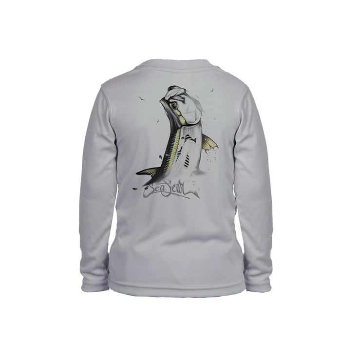 Tarpon Gold Long Sleeve Toddler Performance Tee