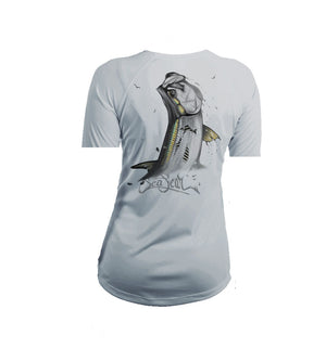Tarpon Gold Short Sleeve V-Neck Performance Tee