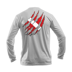 Torn Flag Long Sleeve Performance Tee