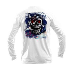 Wahoo Skull Long Sleeve Performance Tee