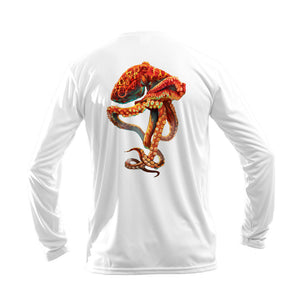 Orange Octo Long Sleeve Performance Tee