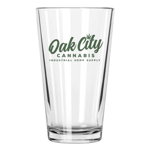 Oak City Cannabis Pint Glass Tumbler Script