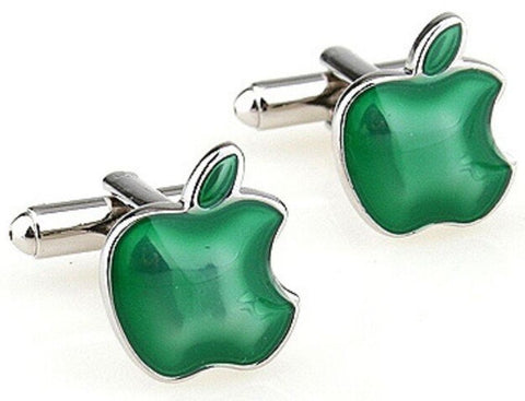Green Apple Cufflinks - mrkjekk.no