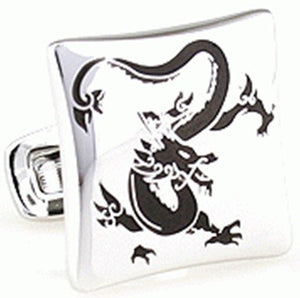 Silver Dragon Cufflinks - mrkjekk.no