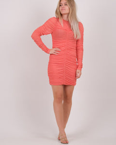HELIA MESH DOT DRESS