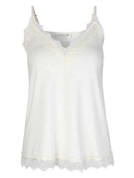 ROSEMUNDE STRAP TOP WITH ELEGANT LACE