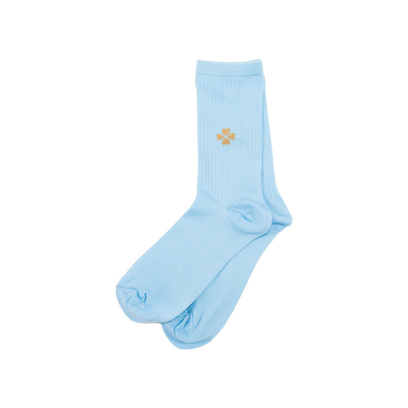 Golden Clover Socks - Blue