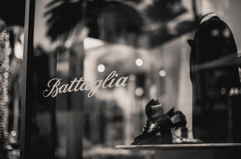 Battaglia continues its tradition of being the most distinguished shop for well-dressed men in Los Angeles. Located in the iconic Frank Lloyd Wright building, Battaglia is the longest standing men's boutique on the famous Rodeo Drive.