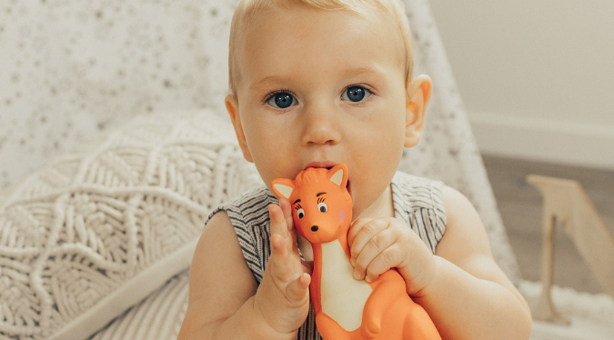 Mizzie The Kangaroo the best Toy for a teething baby