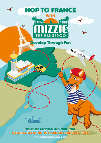 Hop to France with Mizzie The Kangaroo