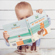 Mizzie The Kangaroo At the Beach Baby Board Book Educational Toy with baby