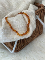 Amber Teething Necklace COGNAC