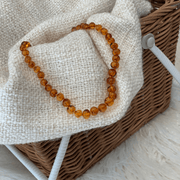 Baby Amber Teething Necklace colour HONEY