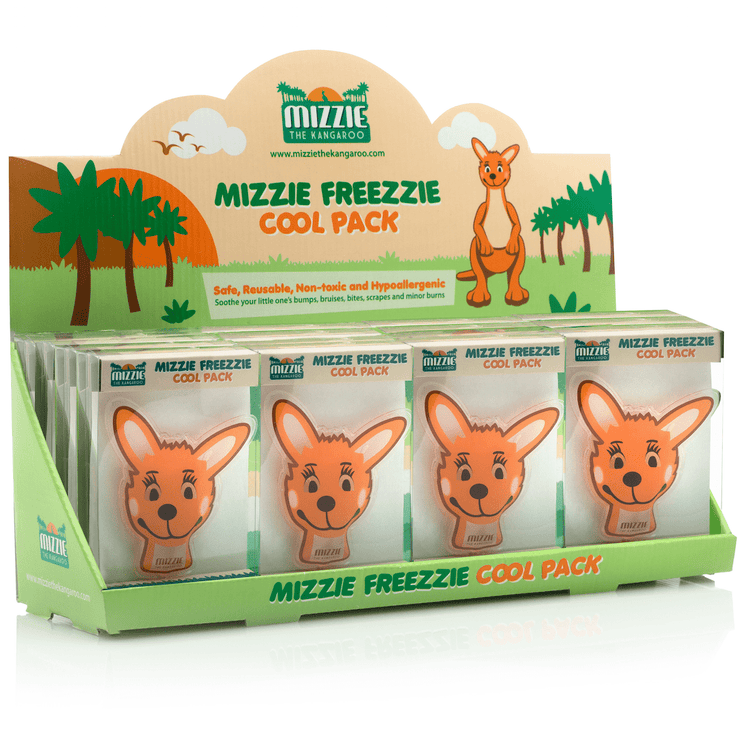 Mizzie The Kangaroo Freezzie Cool Packs For Baby Bumps And Bruises Wholesale