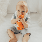 Boy with Baby Teething Toy 100% Natural Rubber