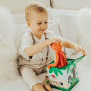 Mizzie The Kangaroo Musical Hop Out Mizzie Music Box with Toddler boy