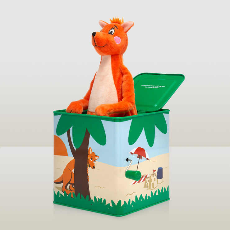 Mizzie The Kangaroo Musical Hop Out Mizzie Music Box for Toddlers side view