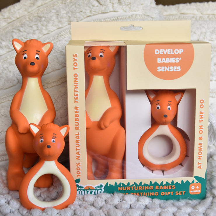 Nurturing Babies Mizzie Teething Gift Set - 100% Natural Rubber Teethers Set