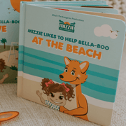 Mizzie The Kangaroo Baby Board Book Educational Toy At the Beach