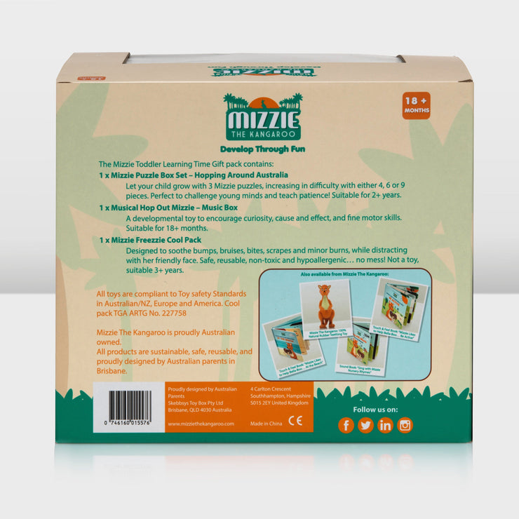 Mizzie the Kangaroo Toddler Learning Time Gift Pack back side view