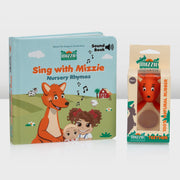 'mini Singer Gift Set' - SOUND BOOK Gift Set with mini Mizzie Teether