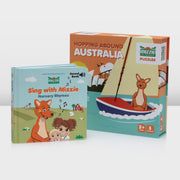 Mizzie The Kangaroo Toddler Birthday Gift Set With Puzzle And Sound Book educational toys
