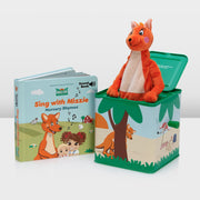 Mizzie The Kangaroo Musical Gift Set With Music Box and SOUND Book for Toddlers