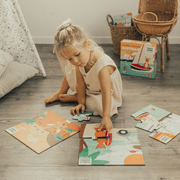 Mizzie The Kangaroo Puzzle Set for Toddlers with girl