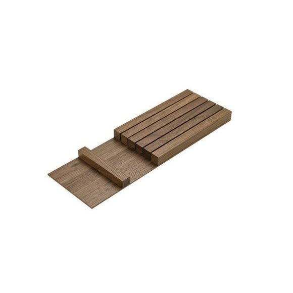 Hafele 556.91.640 Walnut Knife Holder Insert -  Pro-edge HD