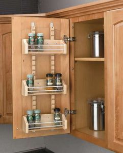 "Rev-A-Shelf 4ASR15 Adjustable Door Mount Spice Rack for 15"" Wall Cabinet -  Pro-edge HD"